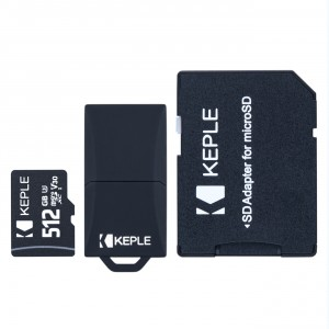 512GB Micro SD Memory Card by Keple | MicroSD Class 10 For HD Videos and Photos | 512 GB SDHC UHS-I U3 (USB and SD Adapter Included)