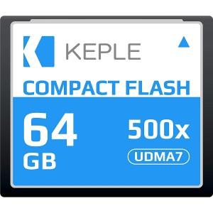 CF 64 GB Compact Flash Memory Card UDMA 7 500x 75MB/s Supports 4K and 1080p full HD Video, R 94 MB/s W 70 MB/S Compatible with Nikon D5, D4, D800, D810, D700, D300; Canon 5d, Mk II, III, IV; 7d, Mk II