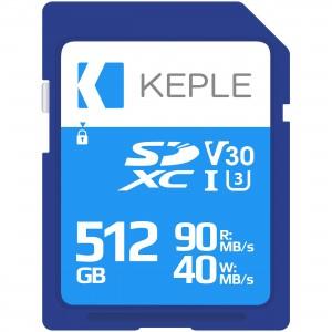 512GB SD Memory Card by Keple | High Speed SD Card for Camera / HD Videos & Photos | 512 GB Storage Class 10 UHS-I U3 SDXC