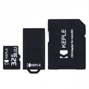 32GB Micro SD Memory Card by Keple | MicroSD Class 10 For HD Videos and Photos | 32 GB SDHC UHS-1 U1 (USB and SD Adapter Included)