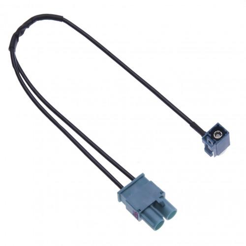 Dual Fakra Car Radio Antenna Adapter for Audi, VW Volkswagen, Skoda, Seat Car Models a