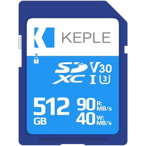 512GB SD Memory Card by Keple | High Speed SD Card for Camera / HD Videos & Photos | 512 GB Storage Class 10 UHS-I U3 SDXC