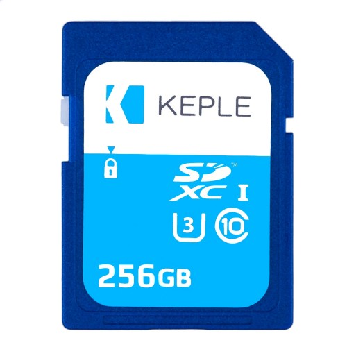256GB SD Memory Card by Keple | High Speed SD Card for HD Videos & Photos | 256 GB Storage Class 10 UHS-III U3 SDXC