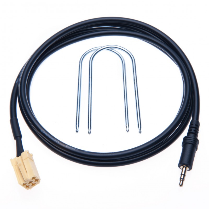 Fiat 3.5mm Cable Music Interface Aux-IN Adapter Mp3 Cable Lead Connect Phone, MP3 Player to your Car (2007-Now Fiat Grande Punto) a
