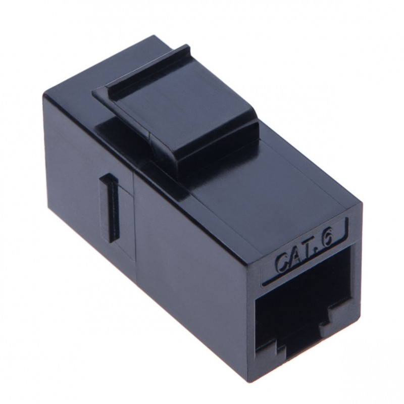 RJ45 Coupler Adaptor Powerline RJ45 Female In Line Jack Splitter Connector for UTP Cat6, Cat5, CAT5e Ethernet LAN Patch Network Cable Extension & Keystone Wall Faceplate | Black a