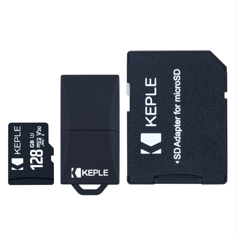 128GB Micro SD Memory Card by Keple | MicroSD Class 10 For HD Videos and Photos | 128 GB SDHC UHS-1 U1 (USB and SD Adapter Included)