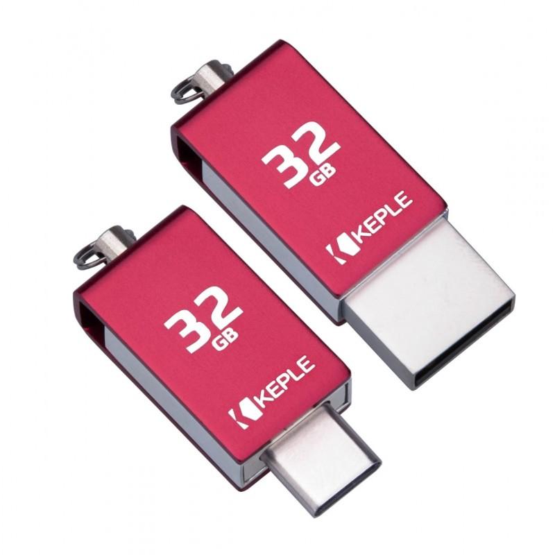 USB Memory Stick 32GB Red USB C 3.0 High Speed Dual OTG Pen Flash Drive Compatible with HTC 10, U11, U11+, U12+, U11 Life, U11 Eyes, U Play, U Ultra, 10 Evo, 10 Lifestyle | 32 GB Type C Thumb Drive