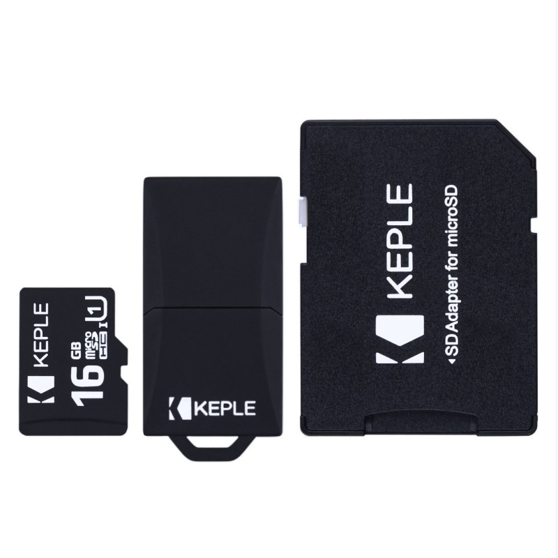 16GB Micro SD Memory Card by Keple | MicroSD Class 10 For HD Videos and Photos | 16 GB SDHC UHS-1 U1 (USB and SD Adapter Included)