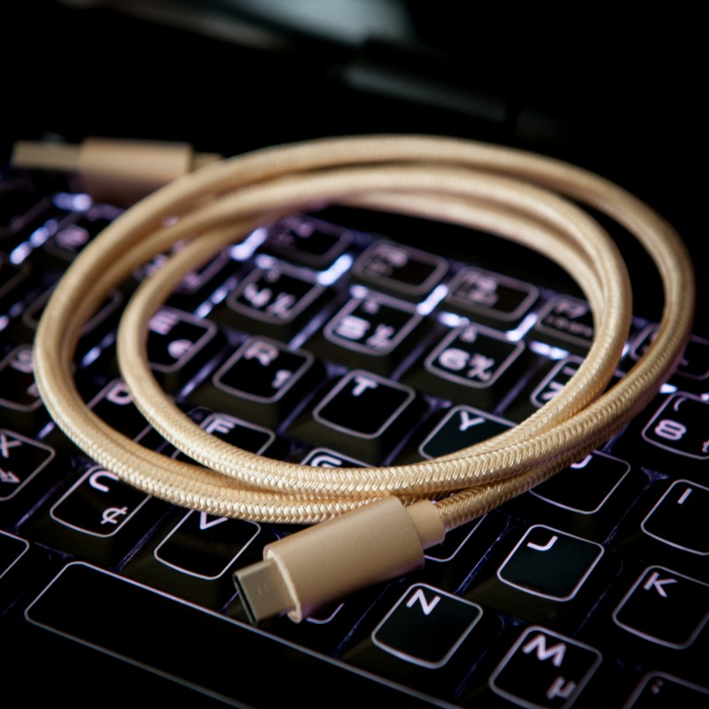 USB Type-C Male to USB Type-A Cable for Phones, Notebooks, Tablets | Golden 1m